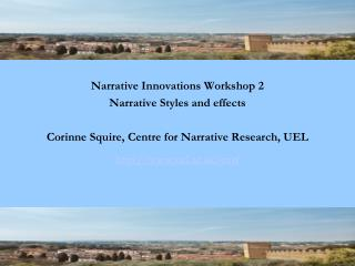 Narrative Innovations, Prato 2012