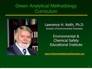 green analytical methodology curriculum