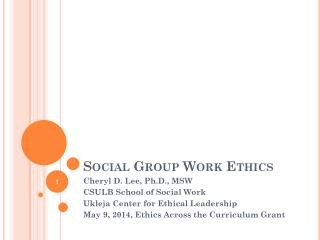 Social Group Work Ethics