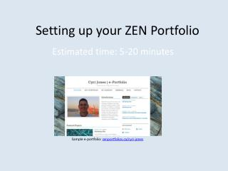 Setting up your ZEN Portfolio