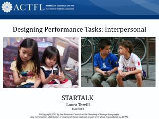 STARTALK Laura Terrill Fall 2013
