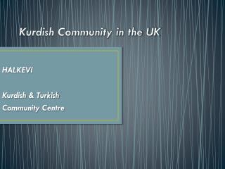 Kurdish Community in the UK