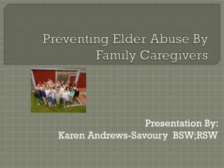 Preventing Elder Abuse By Family Caregivers