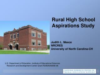 Judith L.  Meece NRCRES University of North Carolina-CH