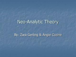 Neo-Analytic Theory