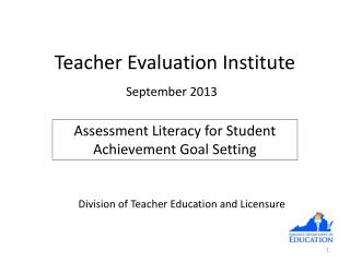 Teacher Evaluation  Institute