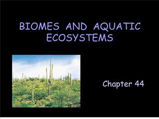 biomes  and  aquatic ecosystems