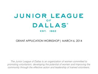 GRANT application workshop| march 6, 2014