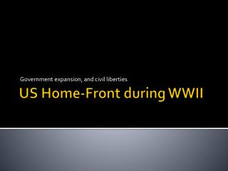 US Home-Front during WWII