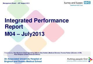 Integrated Performance Report M04 – July2013