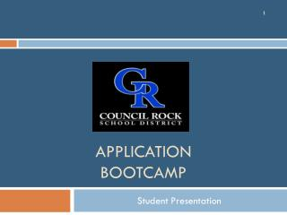 Application bOOTCAMP