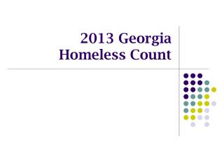 2013  Georgia Homeless Count