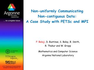 Non-uniformly Communicating Non-contiguous Data: A Case Study with PETSc and MPI