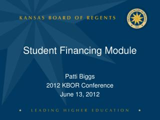 Student Financing Module