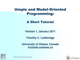 Umple and Model-Oriented Programming: A Short Tutorial
