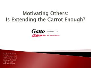 Motivating Others:  Is Extending the Carrot Enough?