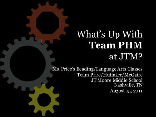 What's Up With Team PHM at JTM?