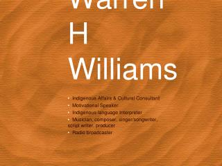 Warren H Williams