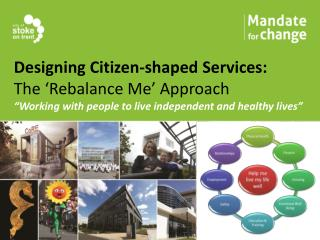 """Designing Citizen-shaped Services: The 'Rebalance Me' Approach """" Working with people to live independent and healthy liv"""