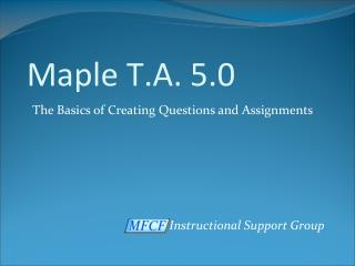 Maple T.A. 5.0