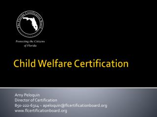 Child Welfare Certification