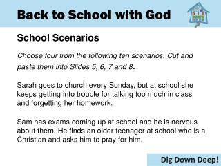 Back to School with God