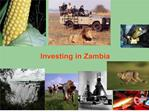 zambia at a glance cont d