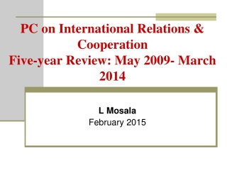 approaches to the study of international relations