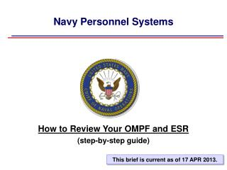 Navy Personnel Systems