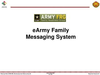 eArmy Family Messaging System