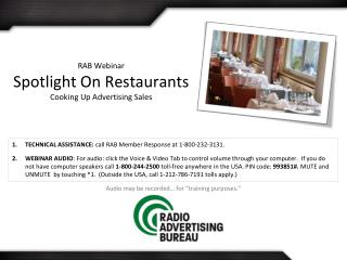 RAB Webinar Spotlight On Restaurants Cooking Up Advertising Sales