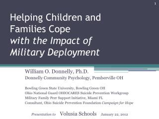 Helping Children and Families Cope with the Impact of Military Deployment