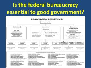 Is the federal bureaucracy essential to good government?