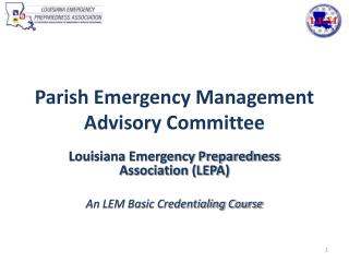 Parish Emergency Management Advisory Committee