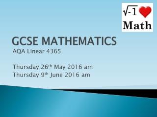 revising for gsce mathematics