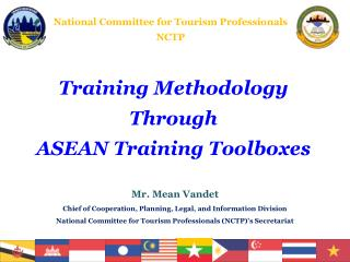 Training Methodology  Through ASEAN Training Toolboxes