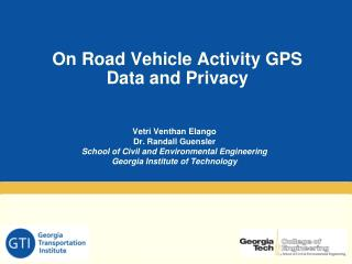 On Road Vehicle Activity GPS Data and Privacy