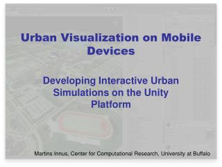 Urban Visualization on Mobile Devices