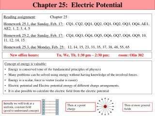 Chapter  25:  Electric Potential