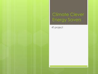 Climate Clever Energy Savers