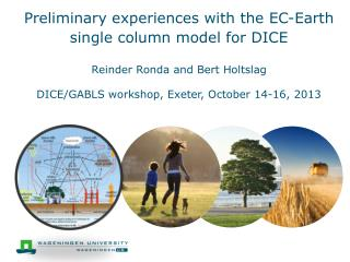 Preliminary experiences with the EC-Earth single column  model for  DICE