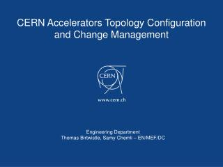 CERN Accelerators Topology Configuration and Change Management