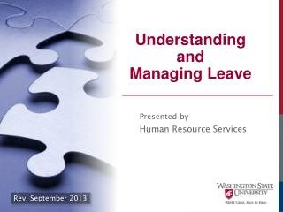 Understanding  and  Managing Leave