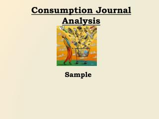 Consumption Journal Analysis