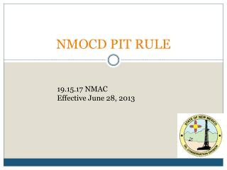 NMOCD PIT RULE