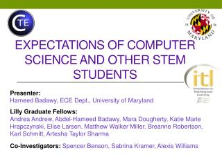 Expectations of Computer Science and other stem students