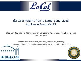 @scale: Insights from a Large, Long-Lived Appliance Energy WSN