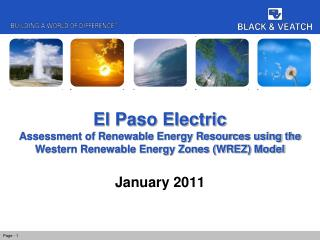El Paso Electric Assessment of Renewable Energy Resources using the Western Renewable Energy Zones (WREZ) Model
