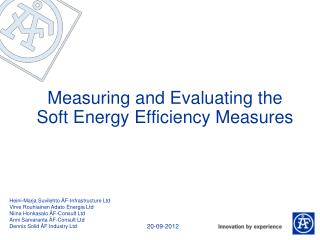 Measuring and Evaluating the Soft Energy Efficiency Measures