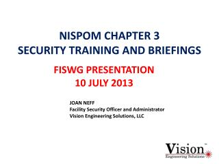 NISPOM CHAPTER 3 SECURITY TRAINING AND BRIEFINGS
